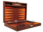 picture of Hector Saxe Epi Leatherette Travel Backgammon Set - Brown (11 of 12)