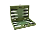 picture of Hector Saxe Epi Leatherette Travel Backgammon Set - Green (1 of 6)