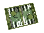 picture of Hector Saxe Epi Leatherette Travel Backgammon Set - Green (2 of 6)
