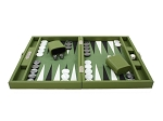 picture of Hector Saxe Epi Leatherette Travel Backgammon Set - Green (3 of 6)