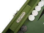 picture of Hector Saxe Epi Leatherette Travel Backgammon Set - Green (4 of 6)