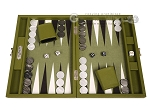 Hector Saxe Epi Leatherette Travel Backgammon Set - Green - Item: 3893