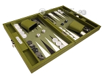 picture of Hector Saxe Epi Leatherette Travel Backgammon Set - Green (2 of 12)