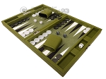 picture of Hector Saxe Epi Leatherette Travel Backgammon Set - Green (3 of 12)