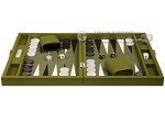 picture of Hector Saxe Epi Leatherette Travel Backgammon Set - Green (4 of 12)