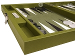 picture of Hector Saxe Epi Leatherette Travel Backgammon Set - Green (5 of 12)