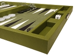 picture of Hector Saxe Epi Leatherette Travel Backgammon Set - Green (6 of 12)