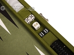 picture of Hector Saxe Epi Leatherette Travel Backgammon Set - Green (7 of 12)