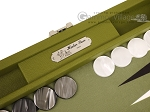 picture of Hector Saxe Epi Leatherette Travel Backgammon Set - Green (9 of 12)