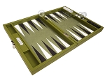 Hector Saxe Epi Leatherette Travel Backgammon Set - Green