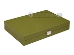 picture of Hector Saxe Epi Leatherette Travel Backgammon Set - Green (12 of 12)