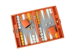 picture of Hector Saxe Epi Leatherette Travel Backgammon Set - Orange (2 of 6)