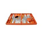picture of Hector Saxe Epi Leatherette Travel Backgammon Set - Orange (3 of 6)