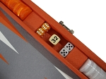 picture of Hector Saxe Epi Leatherette Travel Backgammon Set - Orange (5 of 6)