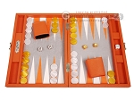 picture of Hector Saxe Epi Leatherette Travel Backgammon Set - Orange (1 of 12)