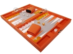picture of Hector Saxe Epi Leatherette Travel Backgammon Set - Orange (3 of 12)