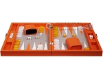 picture of Hector Saxe Epi Leatherette Travel Backgammon Set - Orange (4 of 12)