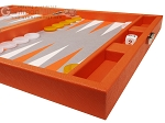 picture of Hector Saxe Epi Leatherette Travel Backgammon Set - Orange (6 of 12)