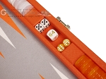 picture of Hector Saxe Epi Leatherette Travel Backgammon Set - Orange (7 of 12)