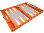 picture of Hector Saxe Epi Leatherette Travel Backgammon Set - Orange (10 of 12)