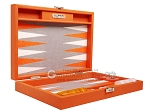 picture of Hector Saxe Epi Leatherette Travel Backgammon Set - Orange (11 of 12)