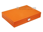 picture of Hector Saxe Epi Leatherette Travel Backgammon Set - Orange (12 of 12)