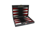 Hector Saxe Cosmos Linen Travel Backgammon Set - Black - Item: 3883