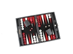 picture of Hector Saxe Cosmos Linen Travel Backgammon Set - Black (2 of 6)