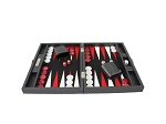 picture of Hector Saxe Cosmos Linen Travel Backgammon Set - Black (3 of 6)