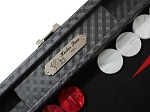 picture of Hector Saxe Cosmos Linen Travel Backgammon Set - Black (4 of 6)