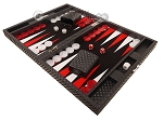 picture of Hector Saxe Cosmos Linen Travel Backgammon Set - Black (3 of 12)