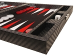 picture of Hector Saxe Cosmos Linen Travel Backgammon Set - Black (6 of 12)