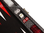 picture of Hector Saxe Cosmos Linen Travel Backgammon Set - Black (7 of 12)
