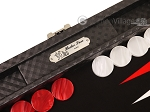 picture of Hector Saxe Cosmos Linen Travel Backgammon Set - Black (9 of 12)