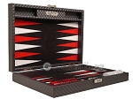 picture of Hector Saxe Cosmos Linen Travel Backgammon Set - Black (11 of 12)