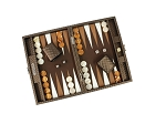 picture of Hector Saxe Cosmos Linen Travel Backgammon Set - Brown (2 of 6)