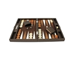 picture of Hector Saxe Cosmos Linen Travel Backgammon Set - Brown (3 of 6)