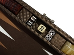 picture of Hector Saxe Cosmos Linen Travel Backgammon Set - Brown (5 of 6)