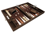 picture of Hector Saxe Cosmos Linen Travel Backgammon Set - Brown (2 of 12)