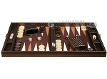 picture of Hector Saxe Cosmos Linen Travel Backgammon Set - Brown (4 of 12)