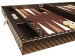 picture of Hector Saxe Cosmos Linen Travel Backgammon Set - Brown (5 of 12)