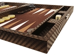 picture of Hector Saxe Cosmos Linen Travel Backgammon Set - Brown (6 of 12)