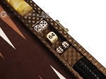 picture of Hector Saxe Cosmos Linen Travel Backgammon Set - Brown (7 of 12)