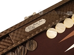 picture of Hector Saxe Cosmos Linen Travel Backgammon Set - Brown (9 of 12)