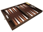 picture of Hector Saxe Cosmos Linen Travel Backgammon Set - Brown (10 of 12)