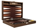 picture of Hector Saxe Cosmos Linen Travel Backgammon Set - Brown (11 of 12)