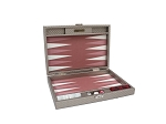 Hector Saxe Cosmos Linen Travel Backgammon Set - Taupe - Item: 3885