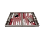 picture of Hector Saxe Cosmos Linen Travel Backgammon Set - Taupe (3 of 6)