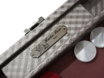 picture of Hector Saxe Cosmos Linen Travel Backgammon Set - Taupe (4 of 6)