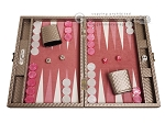 picture of Hector Saxe Cosmos Linen Travel Backgammon Set - Taupe (1 of 12)
